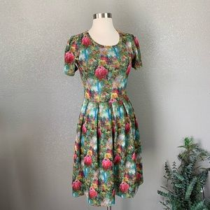 Lularoe Amelia floral  Dress Small